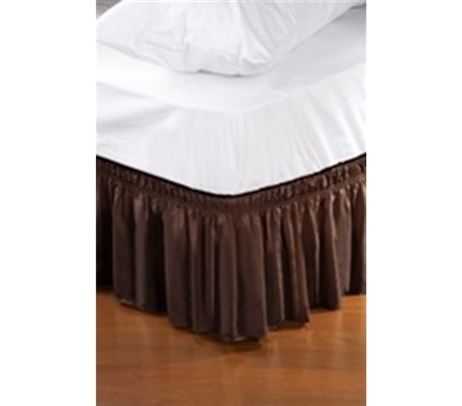 Twin Xl Bed Skirt Chocolate Dorm Bedding Extra Long