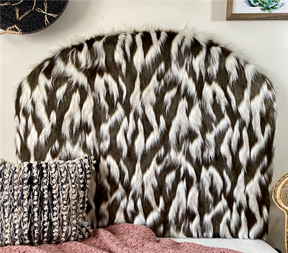 Faux Fur Headboard for Dorm Affordable College Supplies for Freshmen Extra Long Twin Headboard