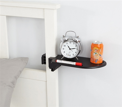 Bed Post Shelf - Keeps College Stuff Handy When You Need It