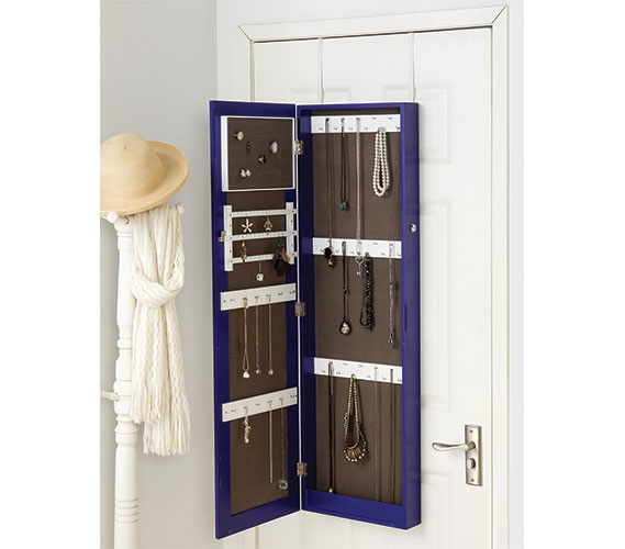 Purple Full Length Hanging Mirror With Jewelry Cabinet College Ave