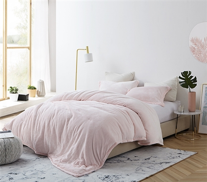 Coma Inducer Twin XL Comforter - Frosted - Rose Quartz