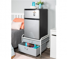 The Fridge Stand Supreme - Drawer Organization - White Frame