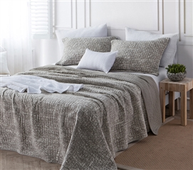 Filter Stone Washed Cotton Quilt - Silver Birch - Twin XL