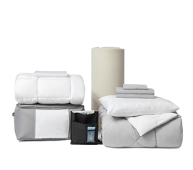 Full/Full XL Size - UWF Top 11 Dorm Bedding Necessities Package - The Premium