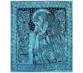 Teal Angel Tapestry