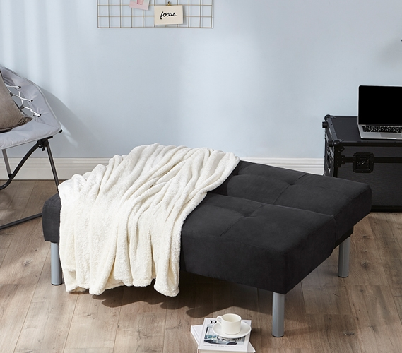 college mini futon   black  rh   dormco