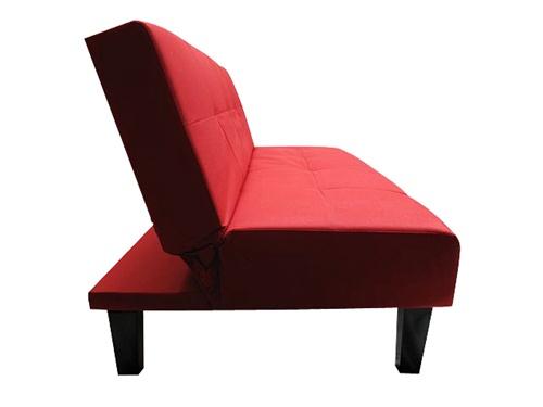 Red Collegiate Dormroom Futon - Dorm Room Furniture Essentials