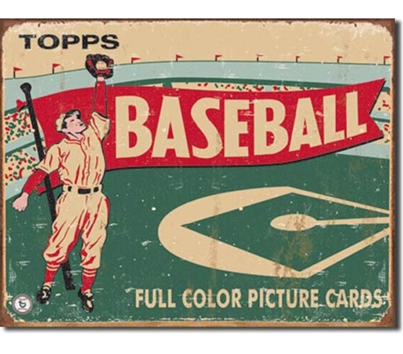 Tin Sign Dorm Room Decor Super Vintage Classic Baseball Advertisement On Cool For