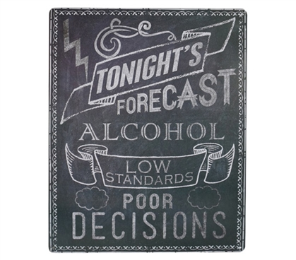 Dorm Wall Art Tonight's Forecast Dorm Tin Sign College Wall Decor