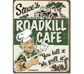 Tin Sign Dorm Room Decor gross but cool road kill funny tin sign wall decoration for dorms and apartments