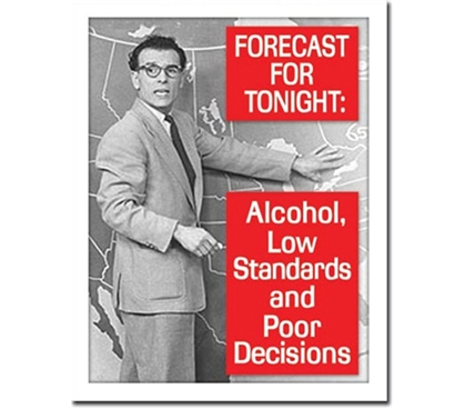 Tin Sign Dorm Room Decor the alcoholic forecast for college students tin sign for dorm and college apartments