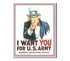 Tin Sign Dorm Room Decor classic army recruiting tin sign for college apartment or dorm room decoration