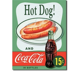 Tin Sign Dorm Room Decor Hot Dog Coca Cola college dorm room and apartment wall tin sign decorations