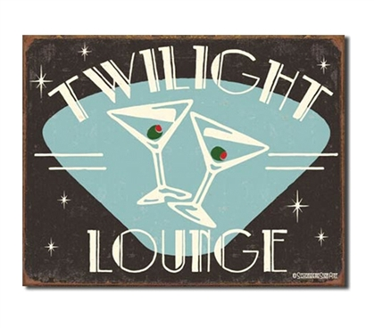 Tin Sign Dorm Room Decor hangs as a cool and classy wall decoration for college living rooms and dorm rooms
