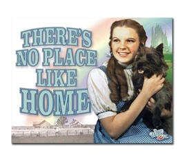 Tin Sign Dorm Room Decor technicolor Wizard of Oz photograph on classic tin sign for wall decoration