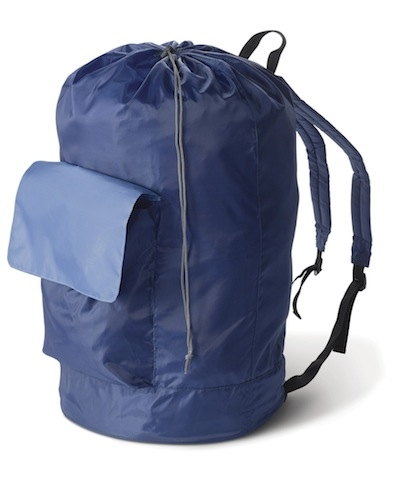 Laundry Supplies Are Essential Blue Backpack Carry That Heavy Load On Your Back
