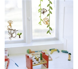 Decorate Your Dorm Room With Monkey Decor - Window Peel N Stick