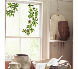 'Green' Dorm Decor Adds Fresh Air To Any Space - Passion Flower Window Peel N Stick