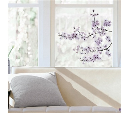 Cherry Blossom Window Peel N Stick College Dorm Safe