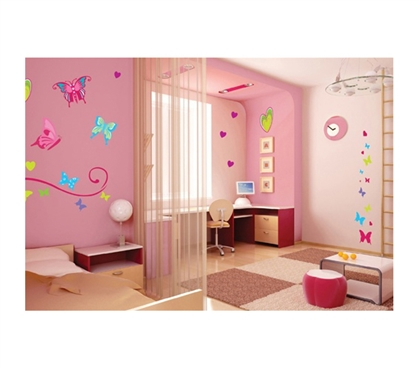 Butterflies Peel N Stick Dorm room decor