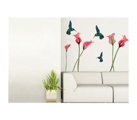 Humming Birds Peel N Stick Cheap dorm decorations