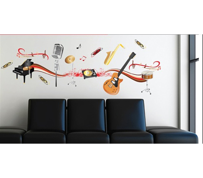 Band Play Dorm Room Wall Decor Peel N Stick Music Themed Dorm Room Wall Decoration Stickers