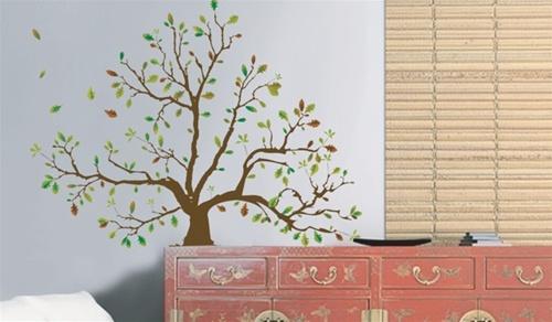 Autumn tree dorm room wall decor peel n stick dorm room safe product reviews teraionfo