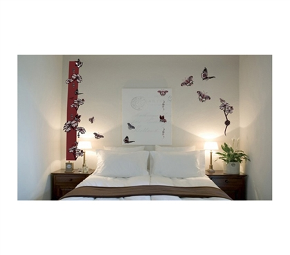 Butterfly Design Peel N Stick Dorm room decor