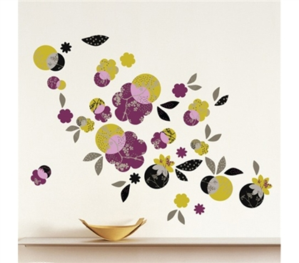 Evening Bloom - Dorm Room Decor Peel N Stick College Decorations