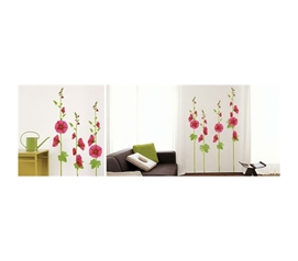 Hollyhocks - Peel N Stick - Gives Your Dorm Room A Colorful Edge