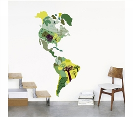 The Americas - Dorm Room Wall Peel N Stick College Decor Supplies