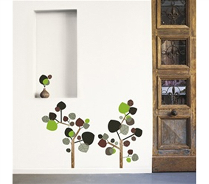 Acorn Trees - Dorm Room Wall Peel N Stick College Essential Decor