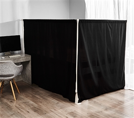 Don't Look At Me - Ultimate Sleep Privacy Divider - White Frame