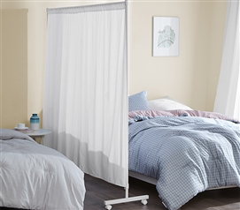 Don't Look At Me - Simplified Privacy Room Divider - White Frame