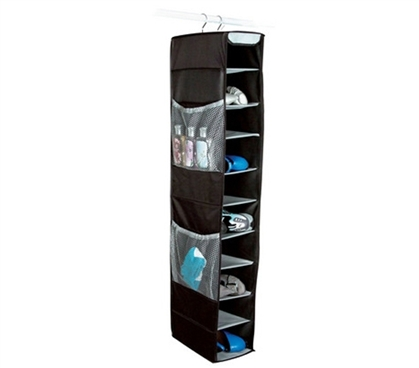 Best Ways To Organize Bedroom Closet  - 10 Shelf Shoe and Accessory Organizer - Black