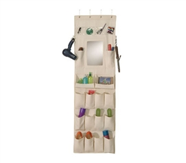 Canvas Organizer with Mirror College dorm door organizer