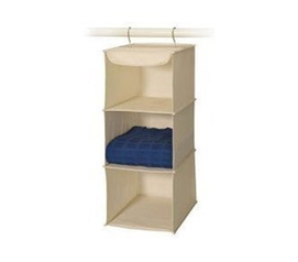 Keep Dorm Room Tidy - 3-Shelf Sweater Canvas Organizer - Dorm Closet Organizer