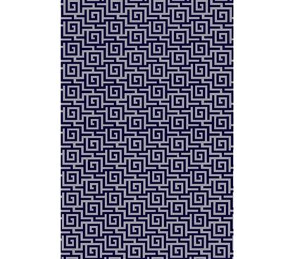 Egyptian Print College Rug Navy And Gray