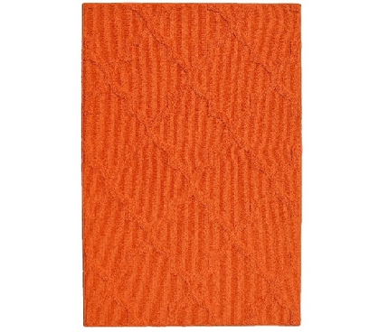 Quatrefoil College Rug - Orange Dorm Carpet Dorm Essentials