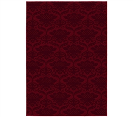 Fun and Fancy Dorm Decor - Victorian College Rug - Chili