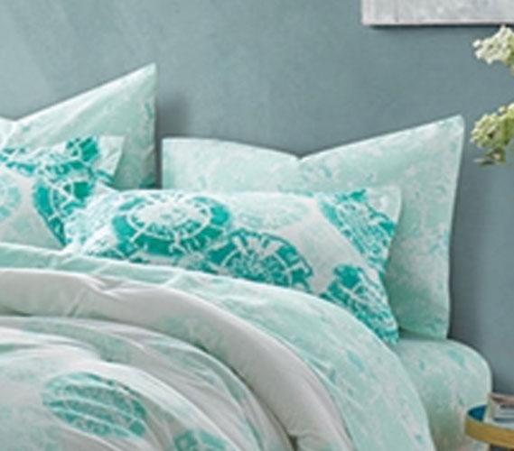 Calico Mint Pillow Sham