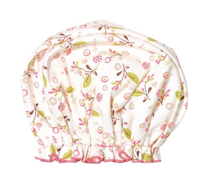 Keeps Your Hair Desert Dry - Bouffant Shower Cap - Olive Vines Bath Product
