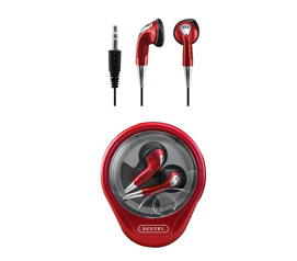College Stuff - Wind - Up MP3 Earbuds - Red Only - Great For Studying With Music