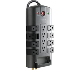 Pivot prevents outlets from getting blocked by bulk plug ins.
