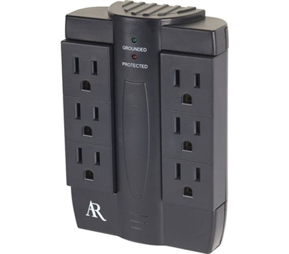 6 Outlet Swivel Plug-in Surge Protector