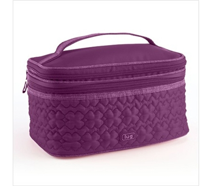 Store Your Makeup - Two Step Cosmetic Case - Purple - Cool Dorm Supplies For Girls