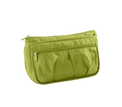 Cheap Bathroom Bag Keeps Your Dorm Essentials Organized - Parasail Ripple Cosmetic Case - Green