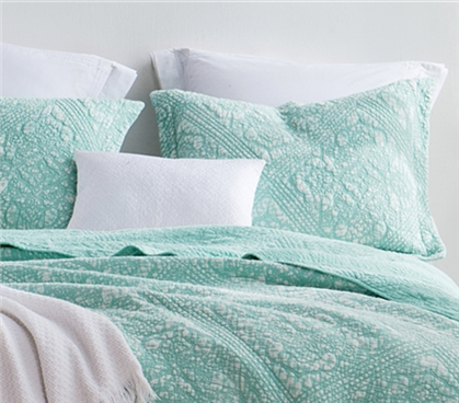 Gradient Stone Wash Cotton Sham - Hint of Mint