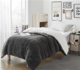 Are You Kidding? - Coma Inducer Twin XL Duvet Cover - Charcoal/White