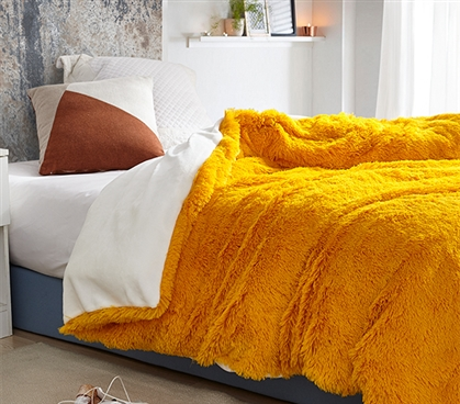 Are You Kidding? - Coma Inducer Twin XL Duvet Cover - Citrus/White
